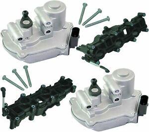 X2 INTAKE MANIFOLD & X2 MOTOR ACTUATOR FIT AUDI A4 A6 A8 Q5 Q7 059129711/12/086D