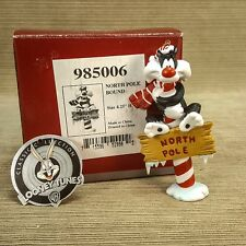 "Goebel Looney Tunes Porcelain 4.25"" Sylvester North Pole Bound Ornament Figurine"