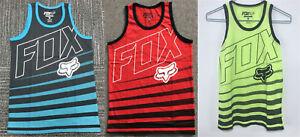 New Fox Racing Riders MTB Boy Youth Sleeveless Muscle Tank Top T-Shirt Vest S-XL