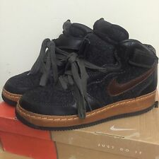 2004 Nike Air Force 1 Mid INSIDEOUT Anthracite Black Wool Brown Green (SIZE 9.5)