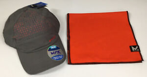 MISSION Cooling-Unisex Baseball Cap Cools Wet-CharCoal Teaberry & Max Plus Towel
