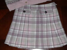Janie and Jack Worlds Fair plaid wool skirt 4t 4 pink brown