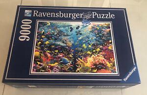 Gently Owned Ravensburger Sea World Underwater Paradise Puzzle 9000 Pcs w/ Box!!