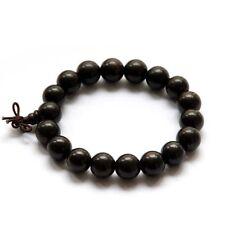 12mm Black Sandalwood Wood Beads Tibet Buddhist Prayer Bracelet Mala