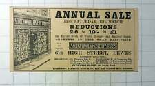 1937 Scotch Wool And Hosiery Stores High Street Lewes Fleming Reid Greenock