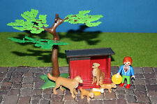 PLAYMOBIL ANIMALES Caseta de perro golden retriever Familia Jardín Zoológico