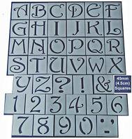 Shabby Chic vintage Alphabet letter & number stencil 45/37mm wedding furniture