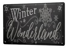 Blechschild Retro Winter Wonderland