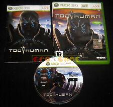 TOO HUMAN XBOX 360 Versione Ufficiale Italiana 1ª Edizione ••••• COMPLETO
