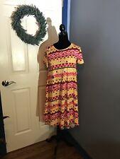 Lularoe Carly Dress XS NWT Black  Red Yellow