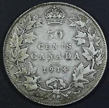 1914 Canada 50 Cents - Fine Condition