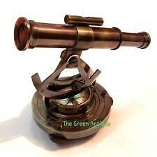 Antique Brass Alidade Telescope Base Compass Nautical Collectible Gift