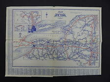 New York Quebec Ontario Vintage Maps, Motor Club, 1930's Langwith's R9#82