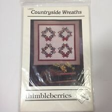 """Countryside Wreaths Quilt Pattern Thimbleberries 66"""" x 66"""""""