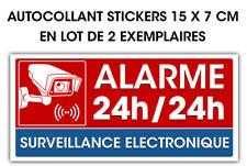 Stickers autocollant Vidéo surveillance en 2ex