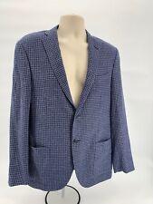 CORNELIANI Mens Size EUR 50 R Or 40US Blue Gray  2 Button Wool Sportcoat Blazer