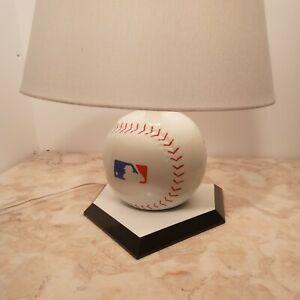 Ceramic Baseball Shape Desk Lamp With MLB Logo Baseball Table Lamp With Shade