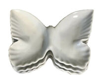 Set Of 3 Vintage Butterfly Shaped Porcelain Dish Trinket Nut Soap Candy