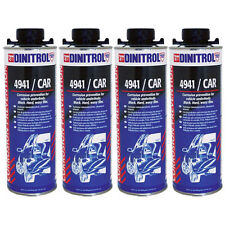 4 x DINITROL 4941 UNDERBODY CHASSIS RUST PROOFING BLACK WAX 1 LITRE