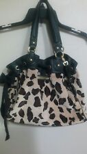 Juicy Couture Daydreamer Leopard Print Velour Leather Purse/Bag/Tote/Handbag FOB