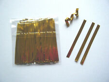 100 GOLD METALLIC TWIST TIES 6CM IDEAL CAKEPOPS PARTY SWEET BAGS FREEZER BAGS