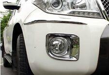 Chrome Front bumper Fog Light Lamp cover For Toyota Land cruiser FJ200 2013 2014