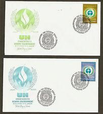 UN Geneva #25-26 Human Enviroment - Set of 2 Artmaster FDCs