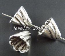 30pcs Tibetan Silver Large Flower Bead Caps 11.5x13mm 15642