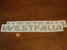 VOLKSWAGEN WESTFALIA EUROVAN BROWN stickers 2 PACK
