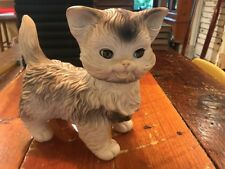 "Vintage Edward Mobley Co. Arrow Rubber Toy Squeaky Cat 9 1/2"" Sleepy Eyes MCM"