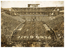 """Penn State Nittany Lions Poster Print Sketch Wall Art Man Cave Decor 12x16"""""""