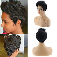 Fashion Short Bob Wavy Wigs Curly Synthetic Full Hair for American Women Cosplay