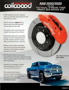 Wilwood TX6R Ram Truck Front Big Brake Kit,Fits 2014-2018 Dodge Ram 2500,3500
