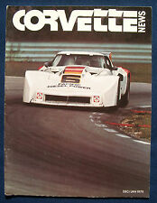 Prospekt brochure Corvette News December / January 1979 (USA)