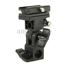 B Bracket Stand Mount Swivel Flash Light HotShoe Trigger Umbrella Holder Adapter