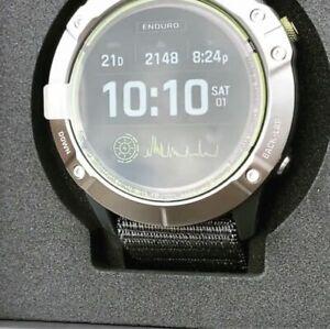 Garmin Enduro GPS Watch - Steel with Gray UltraFit Nylon Strap