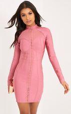 AVERIE ROSE BANDAGE EYELET DETAIL BODYCON DRESS Size 10 UkKg074 01 C