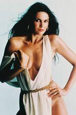 Caroline Munro Sexy Cleavage White Dress 11x17 Mini Poster