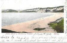 Pebble Beach & Porthkerry Viaduct - BARRY - Glamorgan - 1903 Postcard (272MX)
