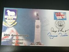 More details for margaret thatcher & rex hunt signed  fdc 20th ann of liberation of the falklands