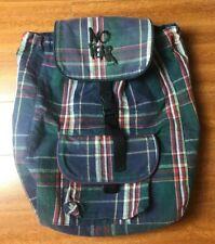 RARE Vtg NO FEAR Plaid Backpack 🔥 Flannel 80s 90s Streetwear Hypebeast