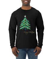 Merry Christmas Tree Christmas Mens Long Sleeve Shirt
