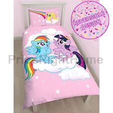MY LITTLE PONY EQUESTRIA SINGLE DUVET COVER SET PANEL RAINBOW DASH FLUTTERSHY