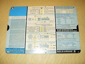Holo - Krome Ltd Socket Screw Selector Number 1063L - As Photo