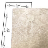 1M WIDE CONCRETE TRAVERTIN MARBLE SHOWER WALL WALLS 2400 X 10MM THICK