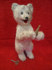 Vintage Rare Polar White Plush Bear Wind Up Mechanical Toy Russian USSR 50/60s