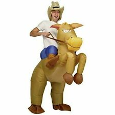 Cavallo Gonfiabile Costume Cavallo Cavalcare Cowboy Fantino RACING addio al celibato festa
