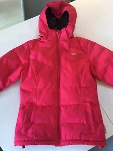 Girls Kids Trespass Waterproof Coat 7-8 Years