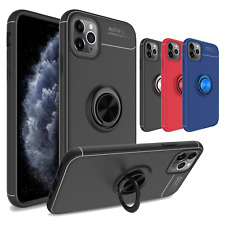 For iPhone 11 / 11 Pro Max Case Ultra Silm TPU Magnetic Ring Holder Soft Cover