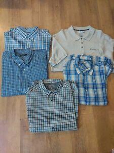 XL Bundle Of 5 Designer Shirts 25 -28in Pit Calvin Klein, Maine, John Lewis, M&S